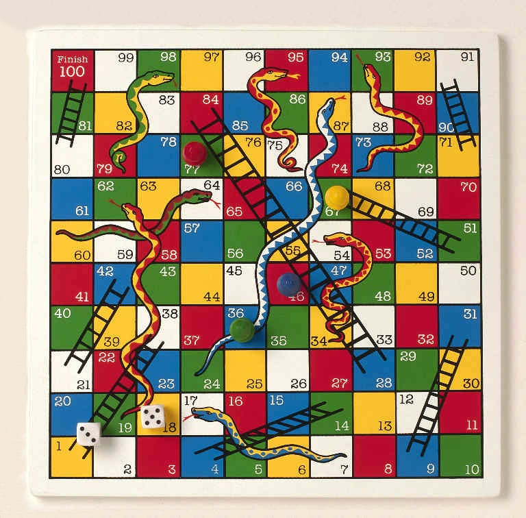 Snakes And Ladders - fun sometimes, but not when you only find the snakes