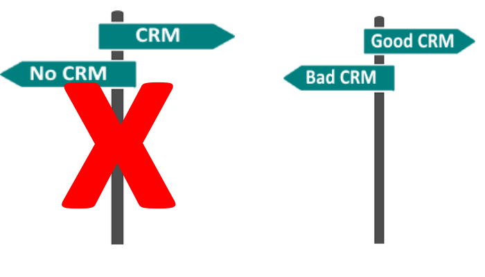 The choice is not whether you implement CRM, but whether you implement CRM well