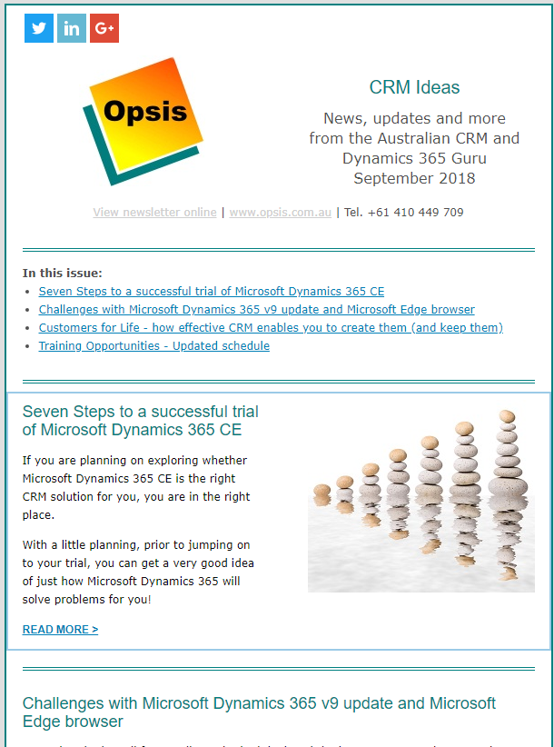 Dynamics 365 training, mentoring, support & consulting - Opsis